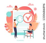 planning  business project ... | Shutterstock .eps vector #1330686896