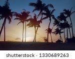 tropical beach sunset landscape ... | Shutterstock . vector #1330689263