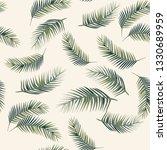 green vector palm leaves.... | Shutterstock .eps vector #1330689959