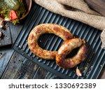 spicy homemade sausages pork... | Shutterstock . vector #1330692389