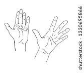 various gestures of human... | Shutterstock .eps vector #1330695866