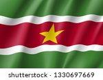 republic suriname national flag.... | Shutterstock .eps vector #1330697669