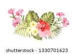 tropical flower garland for... | Shutterstock .eps vector #1330701623