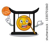 with basketball goldeng gong in ...   Shutterstock .eps vector #1330701860