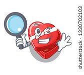 detective choclate heart box in ...   Shutterstock .eps vector #1330702103