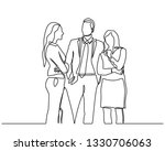 continuous line drawing of... | Shutterstock .eps vector #1330706063