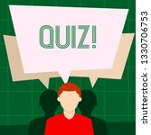 writing note showing quiz.... | Shutterstock . vector #1330706753