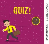 handwriting text quiz. concept... | Shutterstock . vector #1330706930