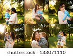collage of baby boy with his... | Shutterstock . vector #133071110