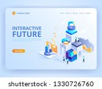 interactive future innovation.... | Shutterstock .eps vector #1330726760