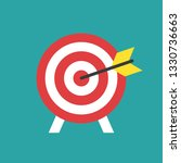 red archery target with arrow... | Shutterstock .eps vector #1330736663