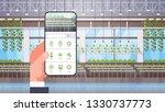 hand holding smartphone using... | Shutterstock .eps vector #1330737773