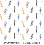 construction workers different... | Shutterstock .eps vector #1330738016