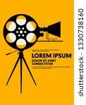 movie and film poster modern...   Shutterstock .eps vector #1330738160