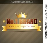 original no. 1 brand product... | Shutterstock .eps vector #133075253