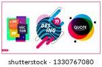 abstract vector banner set.... | Shutterstock .eps vector #1330767080