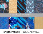 collection of seamless patterns.... | Shutterstock .eps vector #1330784963