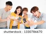 happy young student people... | Shutterstock . vector #1330786670
