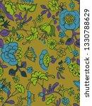 vector floral seamless pattern... | Shutterstock .eps vector #1330788629