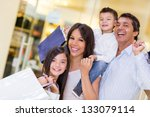 family going shopping and... | Shutterstock . vector #133079114