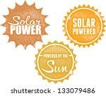 solar power energy stamps | Shutterstock .eps vector #133079486