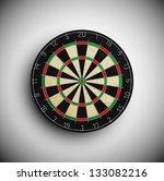 professional darts board. eps 10   Shutterstock .eps vector #133082216