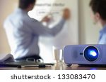business conference or lecture... | Shutterstock . vector #133083470