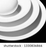 stack of white plates of... | Shutterstock . vector #1330836866