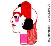 woman portrait in modern...   Shutterstock . vector #1330839809
