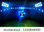 football arena field with... | Shutterstock .eps vector #1330848500