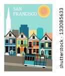 san francisco california.vector | Shutterstock .eps vector #133085633
