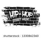 Graffiti Brick Wall With Text...
