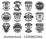 rap and hip hop set of twelve...   Shutterstock .eps vector #1330862366