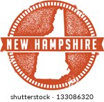 Vintage New Hampshire USA State Stamp - stock vector