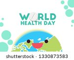 world health day conceptual... | Shutterstock .eps vector #1330873583