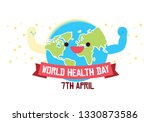 world health day conceptual... | Shutterstock .eps vector #1330873586