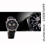 exquisite men's watch with... | Shutterstock . vector #1330876499