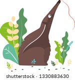 anteater sits in the grass.... | Shutterstock .eps vector #1330883630