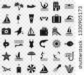 summer icons set. simle style... | Shutterstock .eps vector #1330905173
