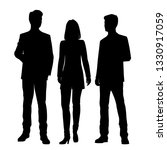 set of vector silhouettes of ... | Shutterstock .eps vector #1330917059