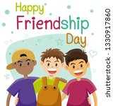 children  three best friends.... | Shutterstock .eps vector #1330917860