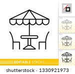 street cafe thin line icon....   Shutterstock .eps vector #1330921973