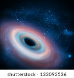 black hole in universe. eps 10 | Shutterstock .eps vector #133092536