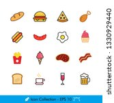 food and drink related icons  ...