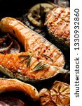 grilled fish  grilled salmon... | Shutterstock . vector #1330932860