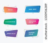 geometric flat banners. modern...   Shutterstock .eps vector #1330936289