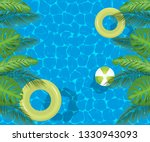 swimming pool top view...   Shutterstock .eps vector #1330943093