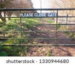 Please Close Gate Sign On Meta...
