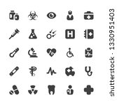medical icons set simple flat... | Shutterstock .eps vector #1330951403