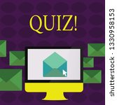 text sign showing quiz.... | Shutterstock . vector #1330958153